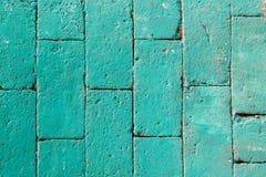 Zielona ściana z cegieł tekstura Zdjęcia Royalty Free