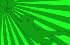 zielona 02 piłka nożna Fotografia Royalty Free