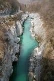 zielona 2 rzeki Zdjęcie Stock