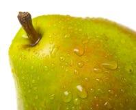 zielona 2 soczysta gruszka makro Zdjęcia Stock