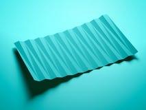 Zielona abstrakcjonistyczna poligonalna wizytówka Zdjęcie Stock