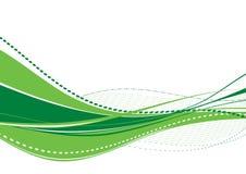 zielona abstrakcyjna fale Ilustracja Wektor