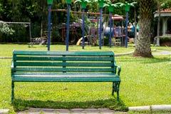 Zielona ławka Obrazy Stock