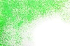 Zielona błyskotliwość na białym, odgórnym widoku, zdjęcia royalty free