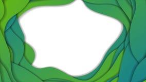 Zielona błękitna abstrakcjonistyczna korporacyjna falista wideo animacja ilustracja wektor