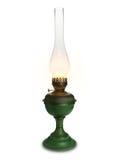 Błyszcząca nafciana lampa na bielu. Zdjęcia Royalty Free
