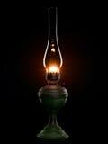 Błyszcząca nafciana lampa na czerni. Zdjęcia Royalty Free