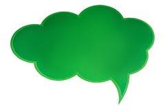 Zielona bąbel rozmowa Zdjęcie Royalty Free
