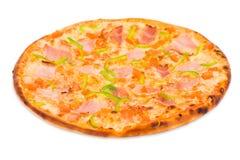 zielona baleronu papryki pizza Zdjęcia Royalty Free