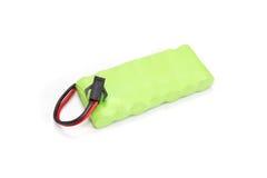 Zielona baterii paczka odizolowywająca na białym tle Obrazy Stock