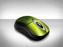 zielona bezprzewodowa mysz Zdjęcia Stock
