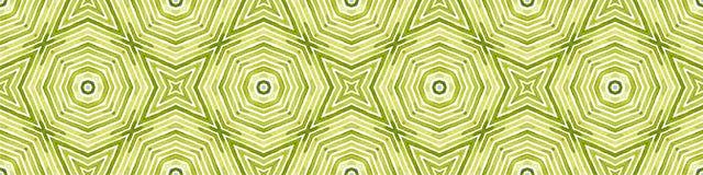 Zielona Bezszwowa Rabatowa ślimacznica Geometryczna akwarela ilustracji