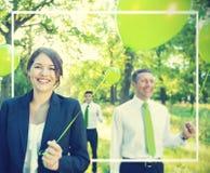 Zielona biznes drużyny wolność Relaksuje harmonii pojęcie obrazy stock