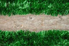Zielona Bożenarodzeniowa świecidełko rama Obraz Stock