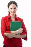 zielona bookr kobieta Fotografia Royalty Free