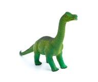 Zielona brachiosaurus zabawka na białym tle Zdjęcie Royalty Free