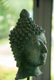 Zielona Buddha głowa Zdjęcie Stock