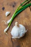 Zielona cebula z czosnkiem Zdjęcie Royalty Free