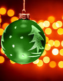 Zielona Christmastime dekoracja zdjęcie royalty free
