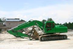 zielona ciężkiej maszynowa łopata fotografia royalty free
