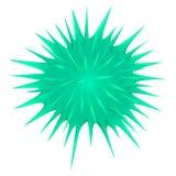 Zielona cierniowata piłka na bielu ilustracja wektor
