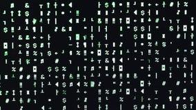 Zielona cyfra (0), 1 na komputerze i zbiory wideo