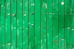 Zielona cyny ściana Zdjęcia Royalty Free