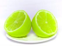 zielona cytryna Obrazy Royalty Free