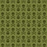 Zielona Czaszka Obrazy Stock