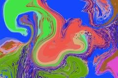 Zielona czerwona błękitna cyfrowa marmoryzacja Abstrakta marmurkowaty tło Holograficzny abstrakta wzór Obraz Royalty Free