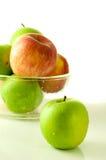 - zielona czerwone jabłko Obrazy Royalty Free
