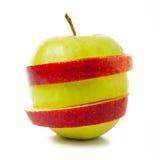 - zielona czerwone jabłko Obraz Royalty Free