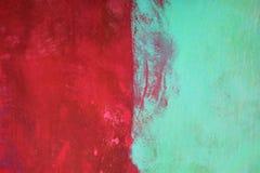 zielona czerwony Fotografia Royalty Free
