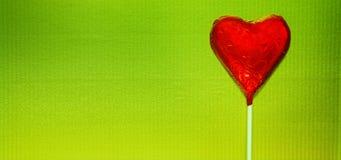 zielona czerwony serca Fotografia Stock