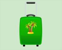 Zielona Dekoracyjna walizka Backround Ilustracji