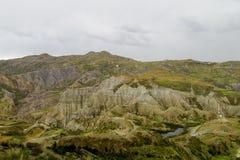 Zielona dolina blisko losu angeles Paz w Boliwia Zdjęcia Stock