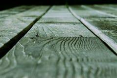 Zielona Drewniana deska Zdjęcie Stock