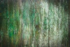 Zielona drewniana drzwiowa tekstura Obrazy Stock