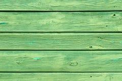 Zielona drewniana tekstura z naturalnymi wzorami. Tło obraz stock