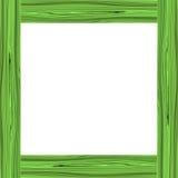 Zielona drewno rama Zdjęcie Royalty Free