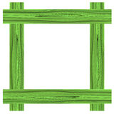 Zielona drewno rama Obrazy Stock