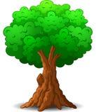 zielona drzewna kreskówka Obrazy Stock