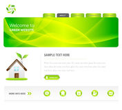 zielona eco strona internetowa Zdjęcie Stock