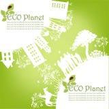 Zielona ekologiczna planeta Zdjęcia Royalty Free