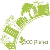 Zielona ekologiczna planeta Zdjęcia Stock