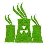 Zielona elektrowni jądrowej ikona Zdjęcie Royalty Free