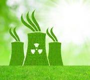 Zielona elektrowni jądrowej ikona Obraz Royalty Free