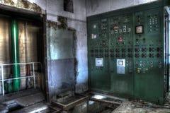 Zielona elektryczna skrzynka Obraz Stock
