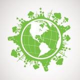 Zielona Energetyczna planety ziemia Zdjęcia Royalty Free