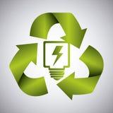 Zielona energia i ekologia Zdjęcia Stock